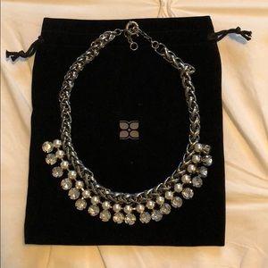 Pearl & diamond fashion jewelry statement necklace